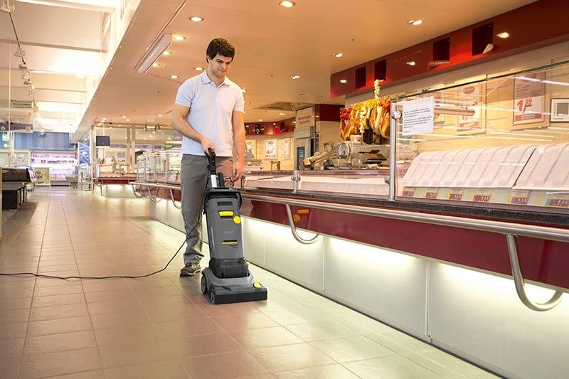 کاربرد زمین شوی صنعتی در فروشگاه ها و هایپر مارکت ها