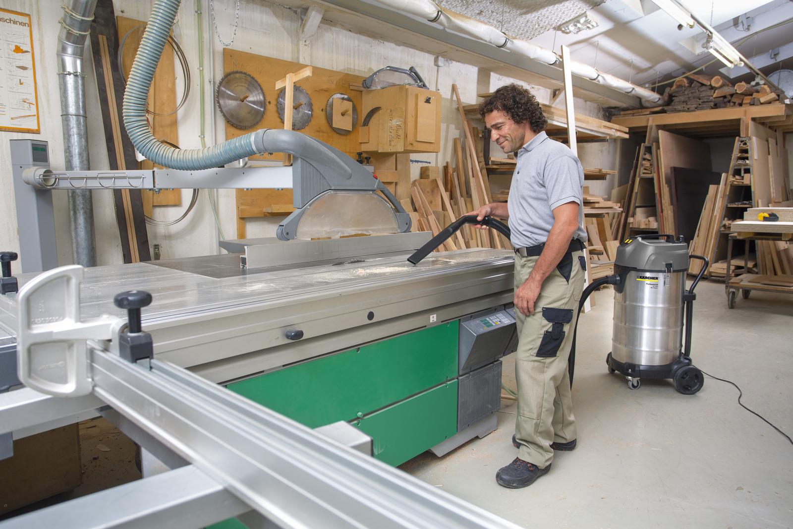 جاروبرقی سطلی صنعتی آب و خاک مدل NT 90/2 کارچر جاروبرقی اداری, دستگاه جاروبرقی صنعتی
