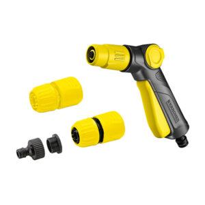 تفنگی پاشش آب دو حالته با ورودی و دو کانکتور آب تجهیزات آب پاش دستی