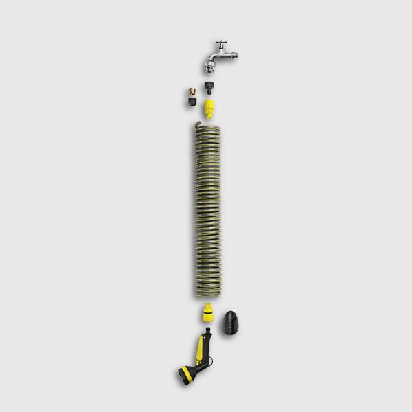 سری آب پاش کرشر مدل spiral به همراه شلنگ فنری اتصالات و کانکتور های آبیاری, تجهیزات آب پاش دستی, شلنگ و شلنگ جمع کن