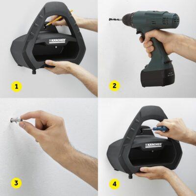 آویز شلنگ مدل Premium plus کارچر تجهیزات آب پاش دستی, شلنگ و شلنگ جمع کن