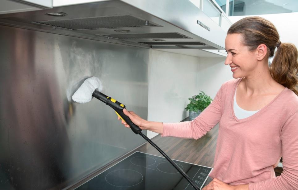 نظافت آشپزخانه با بخارشوی